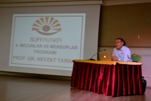 """Prof. Dr. Nevzat Tarhan SUFFA Vakfı Mezun ve Mensuplarına """"Çağın Vicdanı Bediüzzaman"""" ı anlattı."""