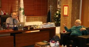 Doğan Cüceloğlu Rektör Prof. Dr. Nevzat Tarhan'ı ziyaret etti…