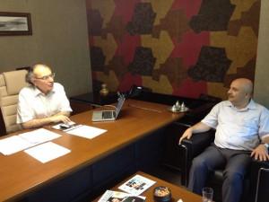 Adıyaman Ünv. Rektörü Prof. Dr. Gönüllü Rektör Tarhan'ı ziyaret etti...