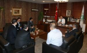 Marmara Sağlık Federasyonu Rektör Tarhan'ı ziyaret etti.