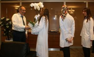 Rektör Tarhan'a anlamlı günde anlamlı ziyaret…